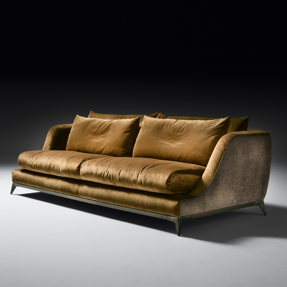 Velvet Sofas With Well Liked Contemporary Designer Velvet Sofa (View 17 of 20)