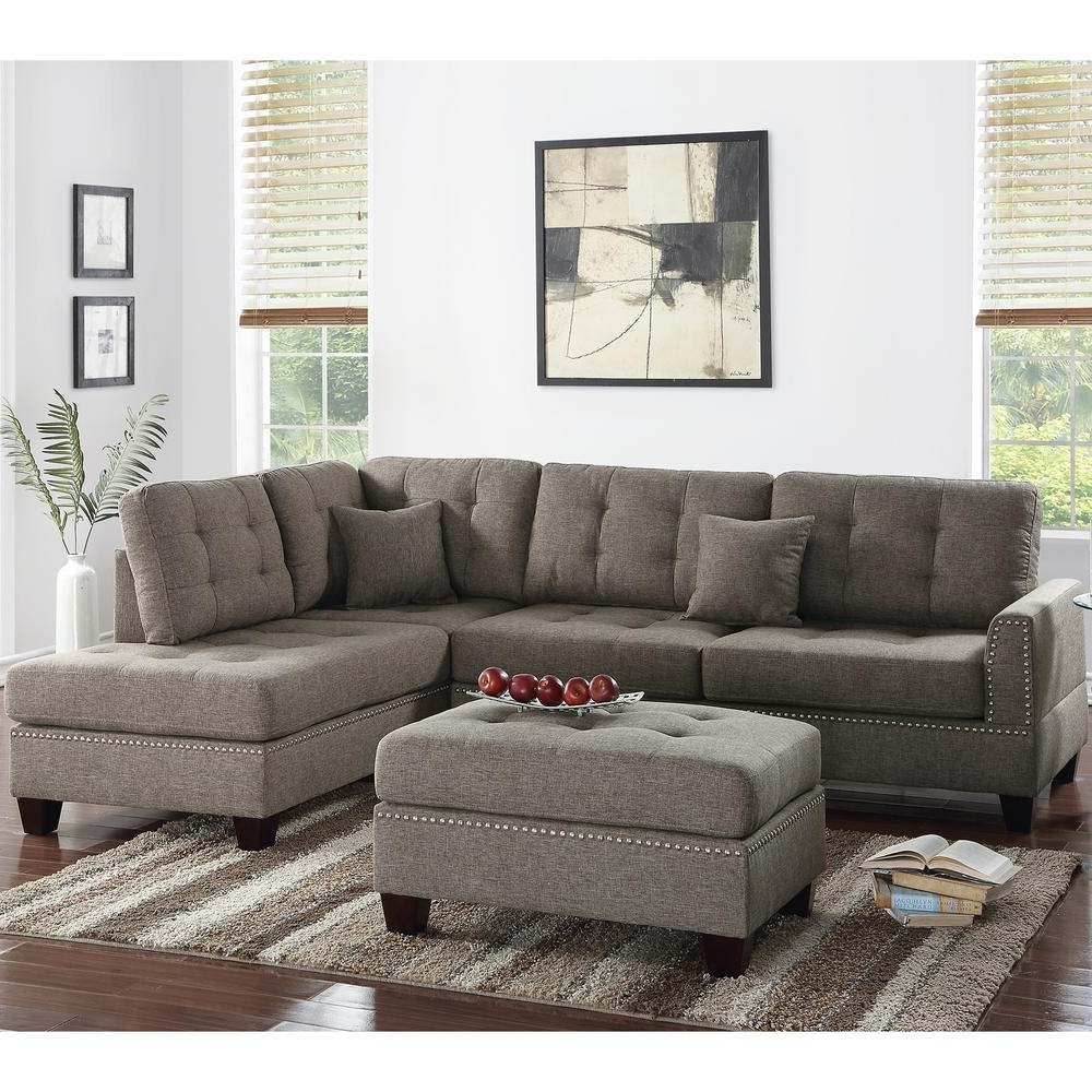 Venetian Worldwide Barcelona 3 Piece Coffee Sectional Sofa With Throughout Well Known Home Depot Sectional Sofas (View 13 of 20)