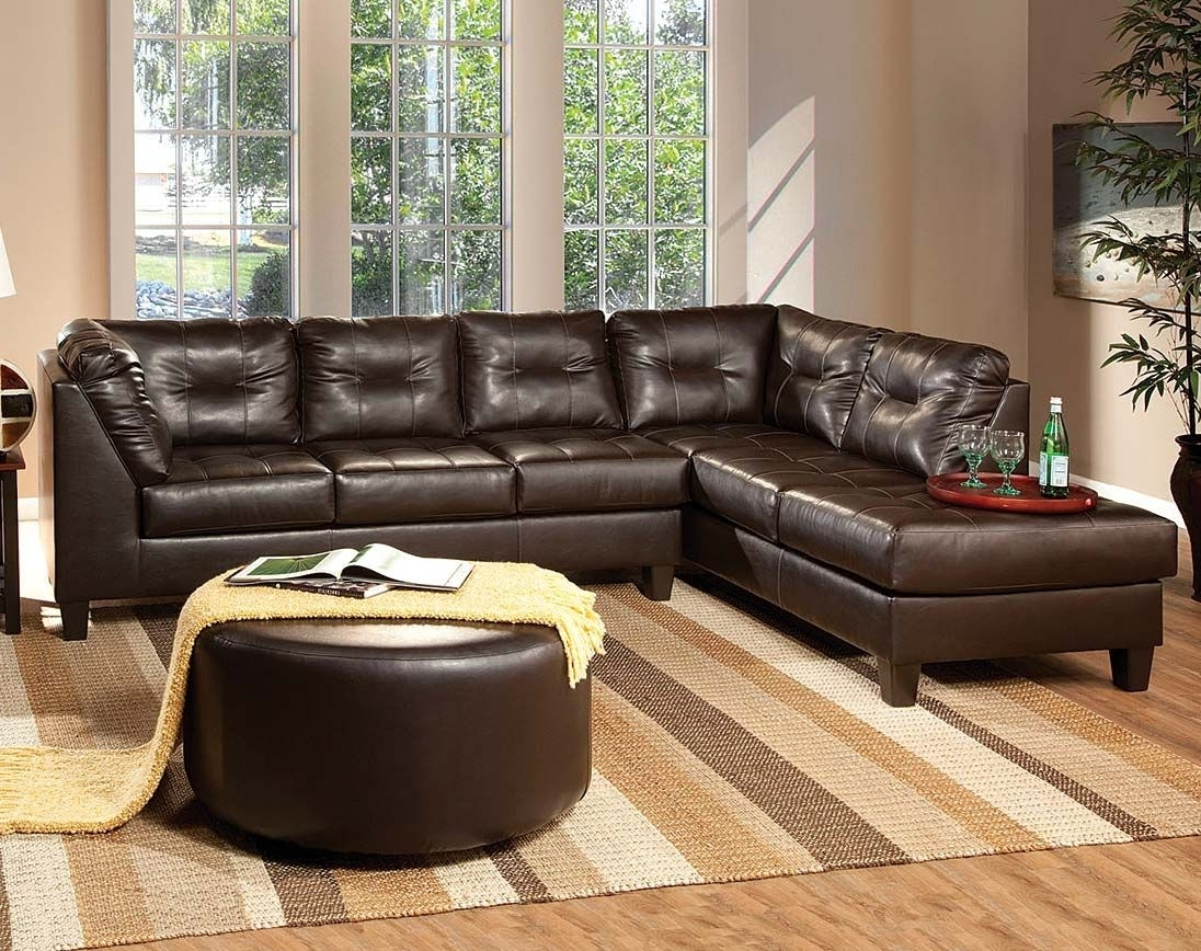 Venus Chocolate Sectional Sofa Intended For Layaway Sectional Sofas (Gallery 1 of 20)