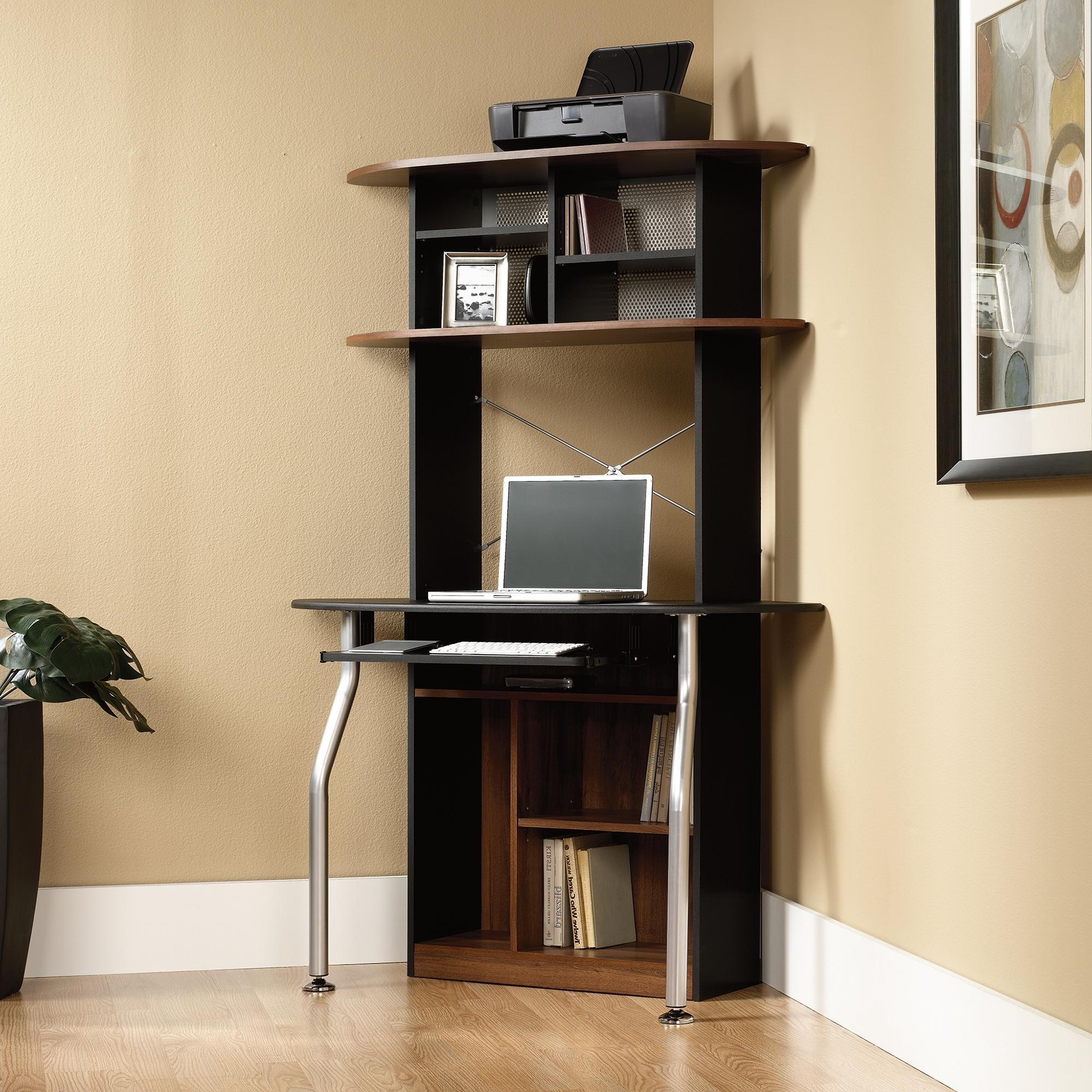 Vertical Computer Desks Intended For Trendy Furniture : Modern Corner Computer Desk Look Elegant Minimalist (View 15 of 20)