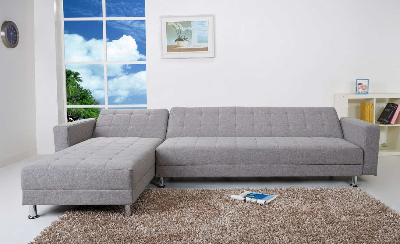 Victoria Bc Sectional Sofas Pertaining To Fashionable Wade Logan Spirit Lake Sleeper Sectional & Reviews (View 18 of 20)