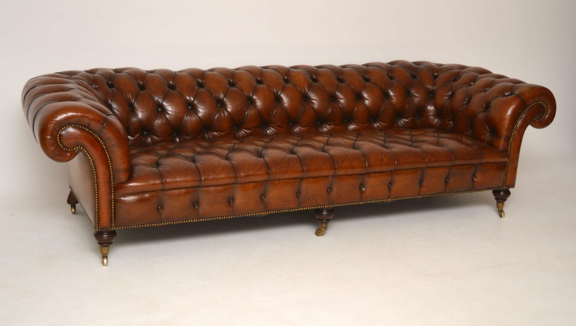 Victorian Leather Sofas With Most Recent Sofa : Victorian Sofa Antique Table Styles Value Settee (View 17 of 20)