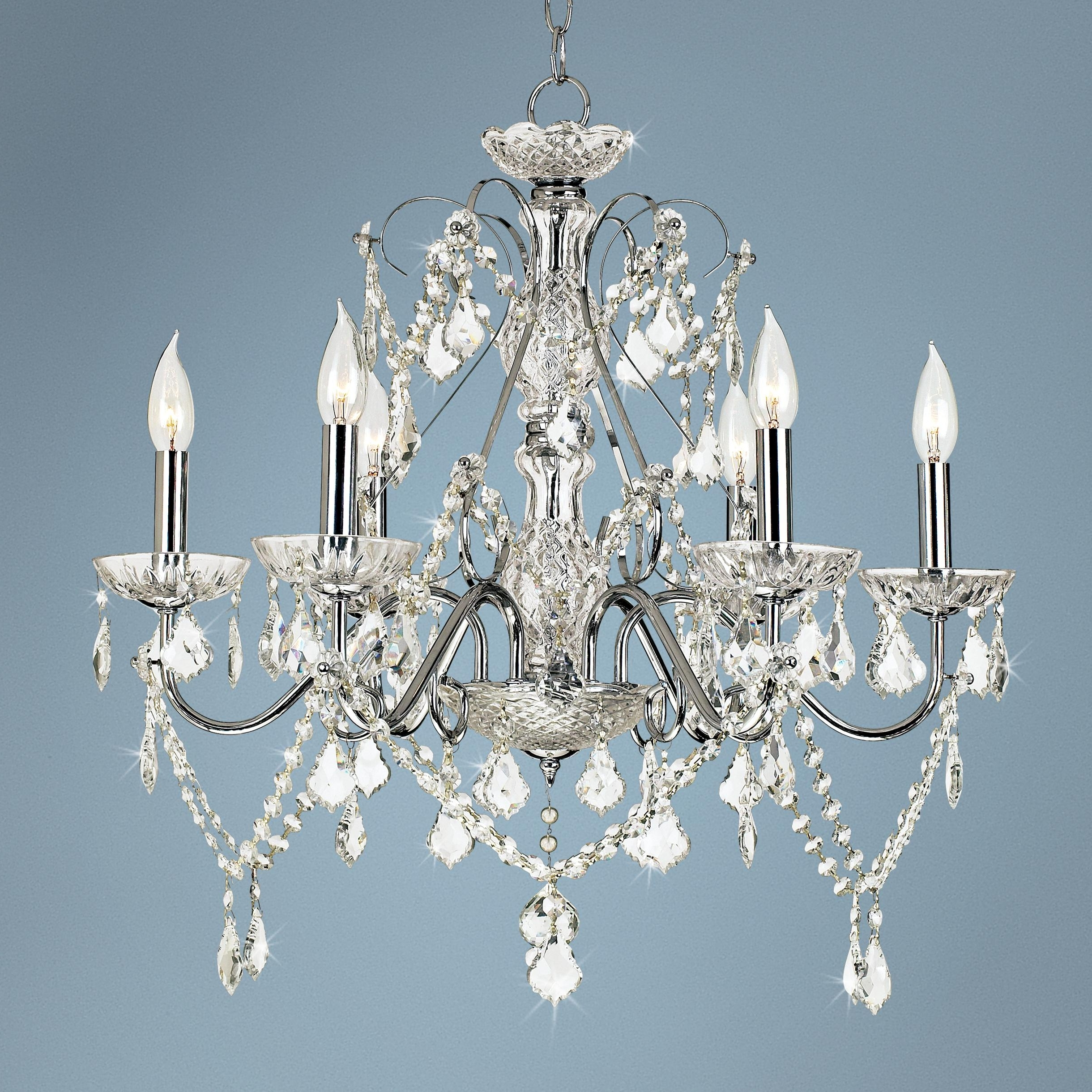 "Vienna Crystal Chandeliers For Latest Vienna Full Spectrum™ 23 1/2""w Chrome And Crystal Chandelier (View 12 of 20)"