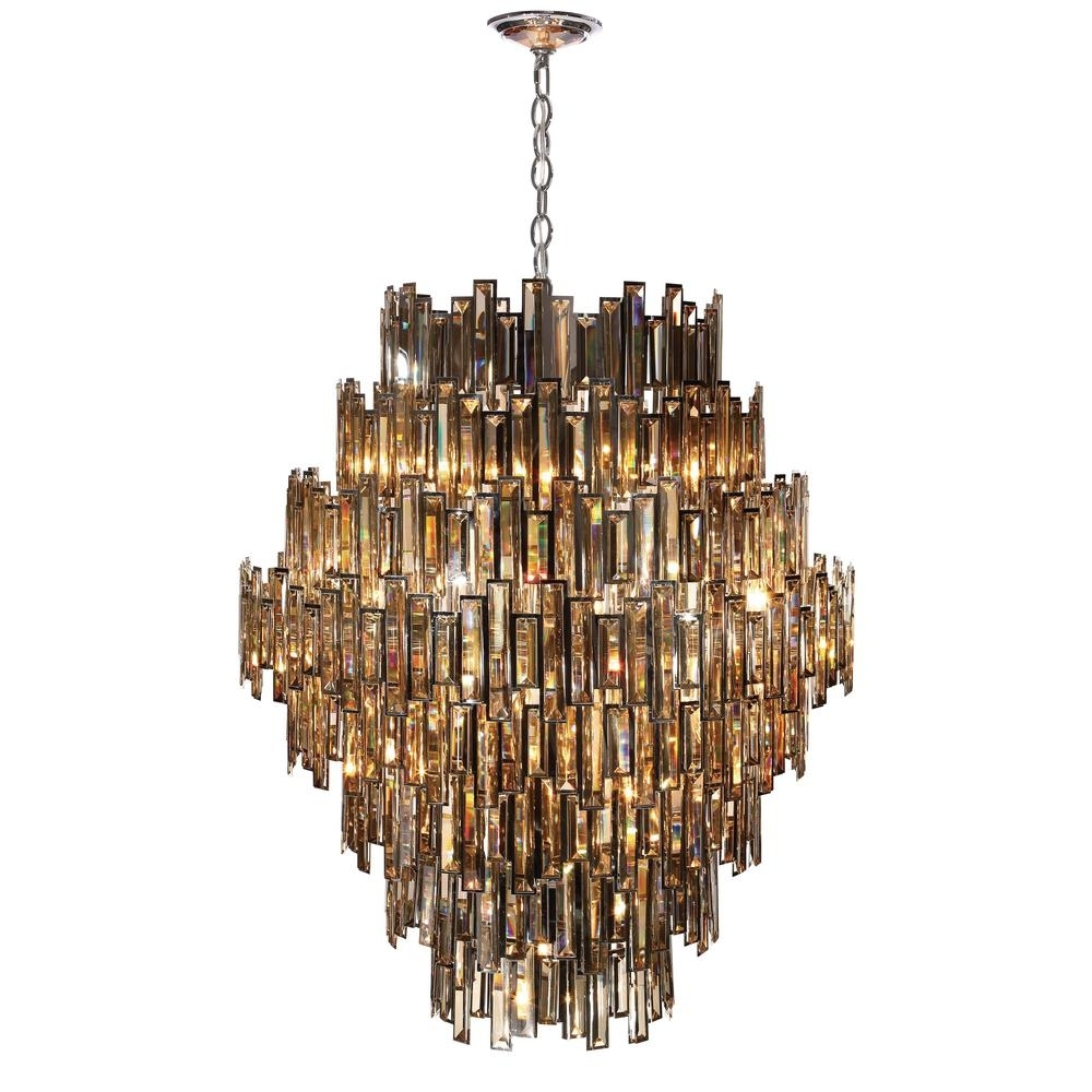 Vienna Crystal Chandeliers For Most Current Eurofase Vienna Collection 28 Light Chrome Chandelier With Crystal (View 5 of 20)