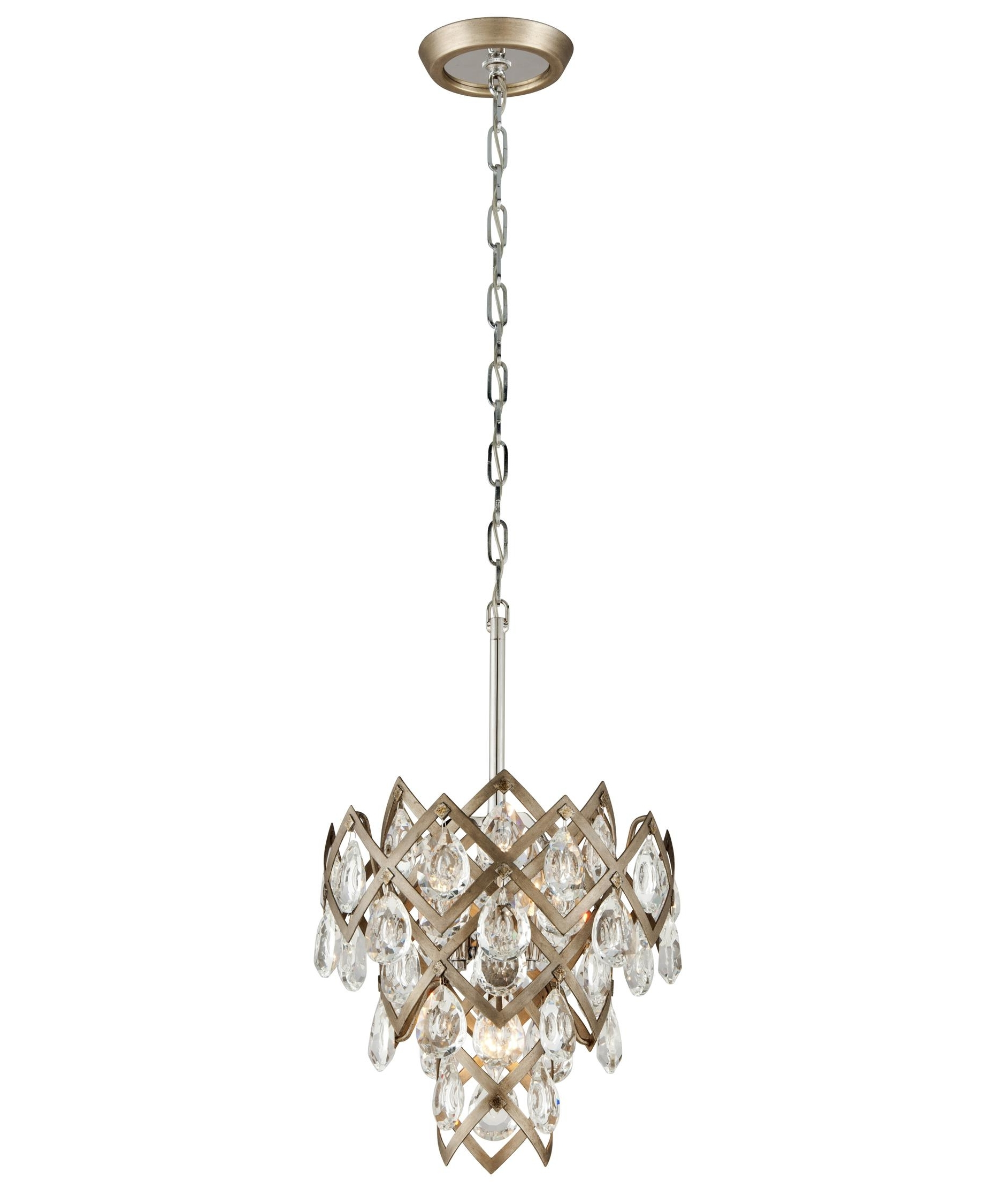 Vienna Crystal Chandeliers In Favorite Corbett Lighting 214 44 Tiara 15 Inch Wide 3 Light Mini Pendant (View 16 of 20)