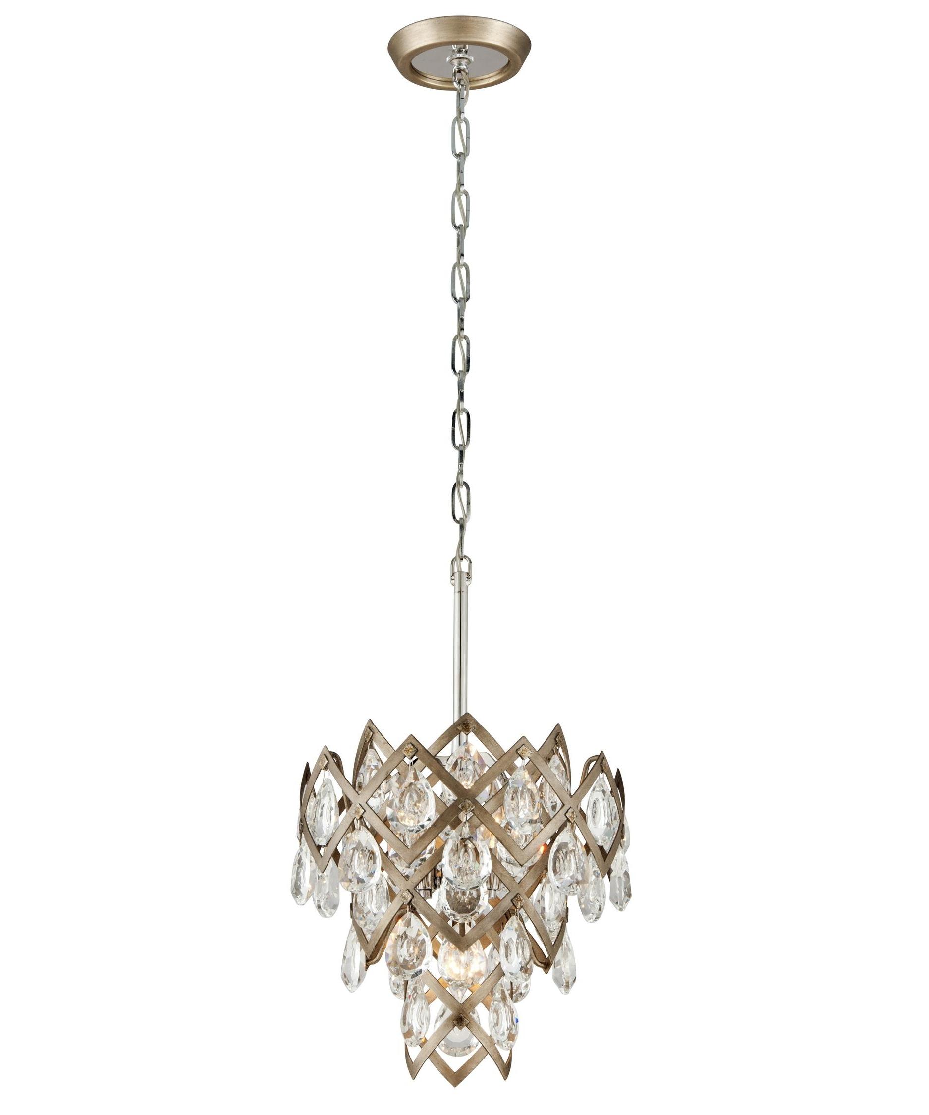 Vienna Crystal Chandeliers In Favorite Corbett Lighting 214 44 Tiara 15 Inch Wide 3 Light Mini Pendant (Gallery 17 of 20)