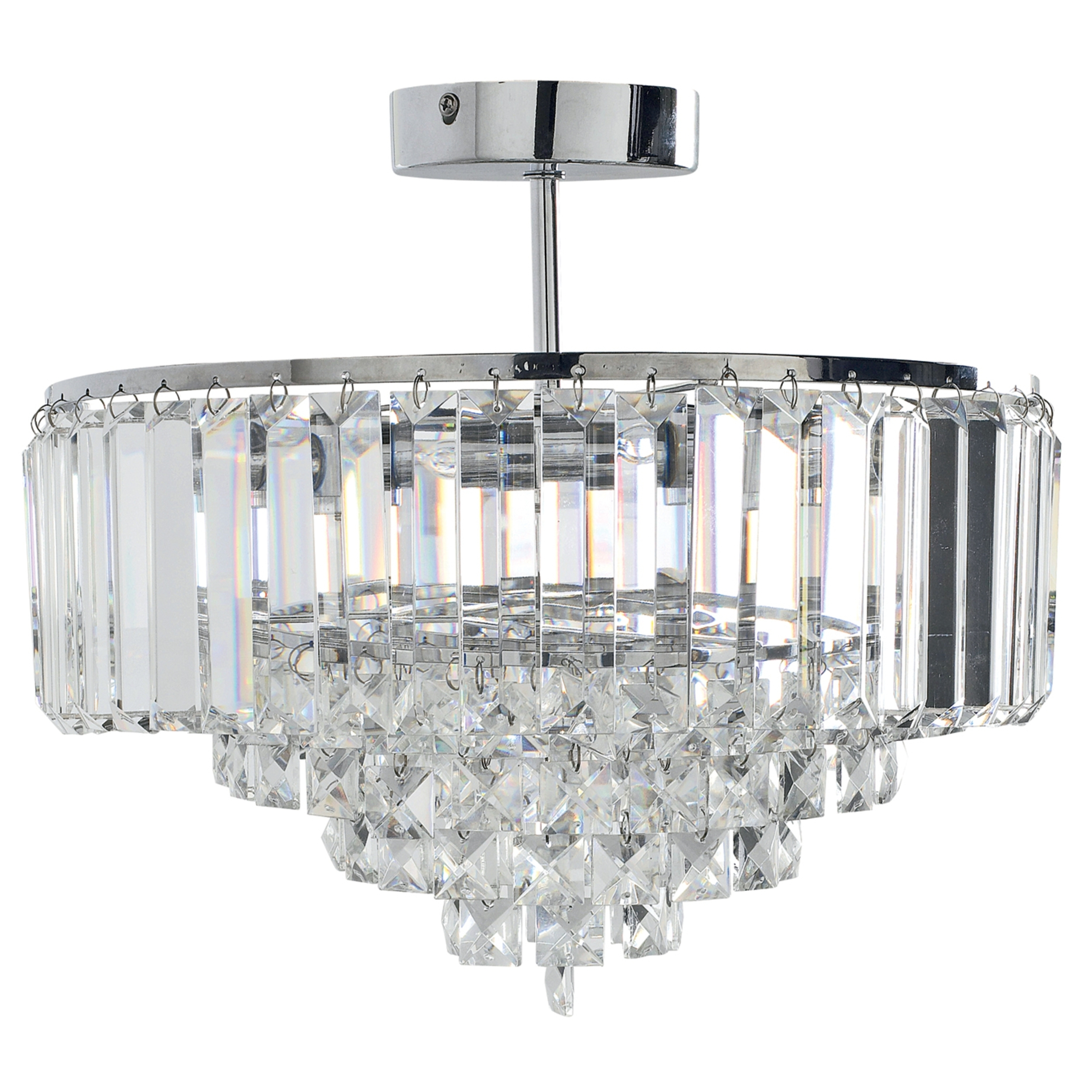Vienna Crystal Chandeliers Intended For Latest Vienna Crystal And Chrome Pendant Light (Gallery 4 of 20)