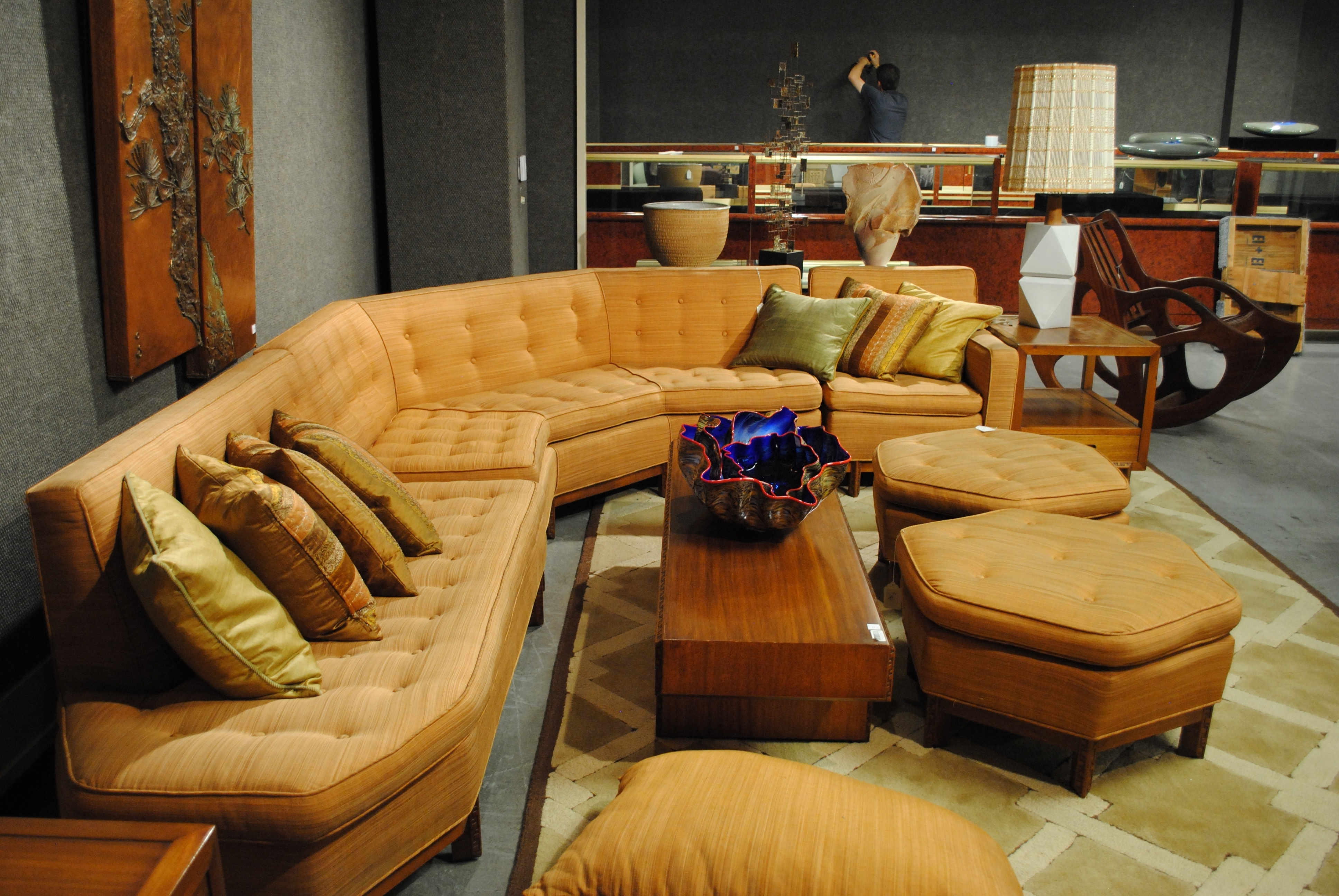 Vintage 1950s Sectional Sofa (View 9 of 20)