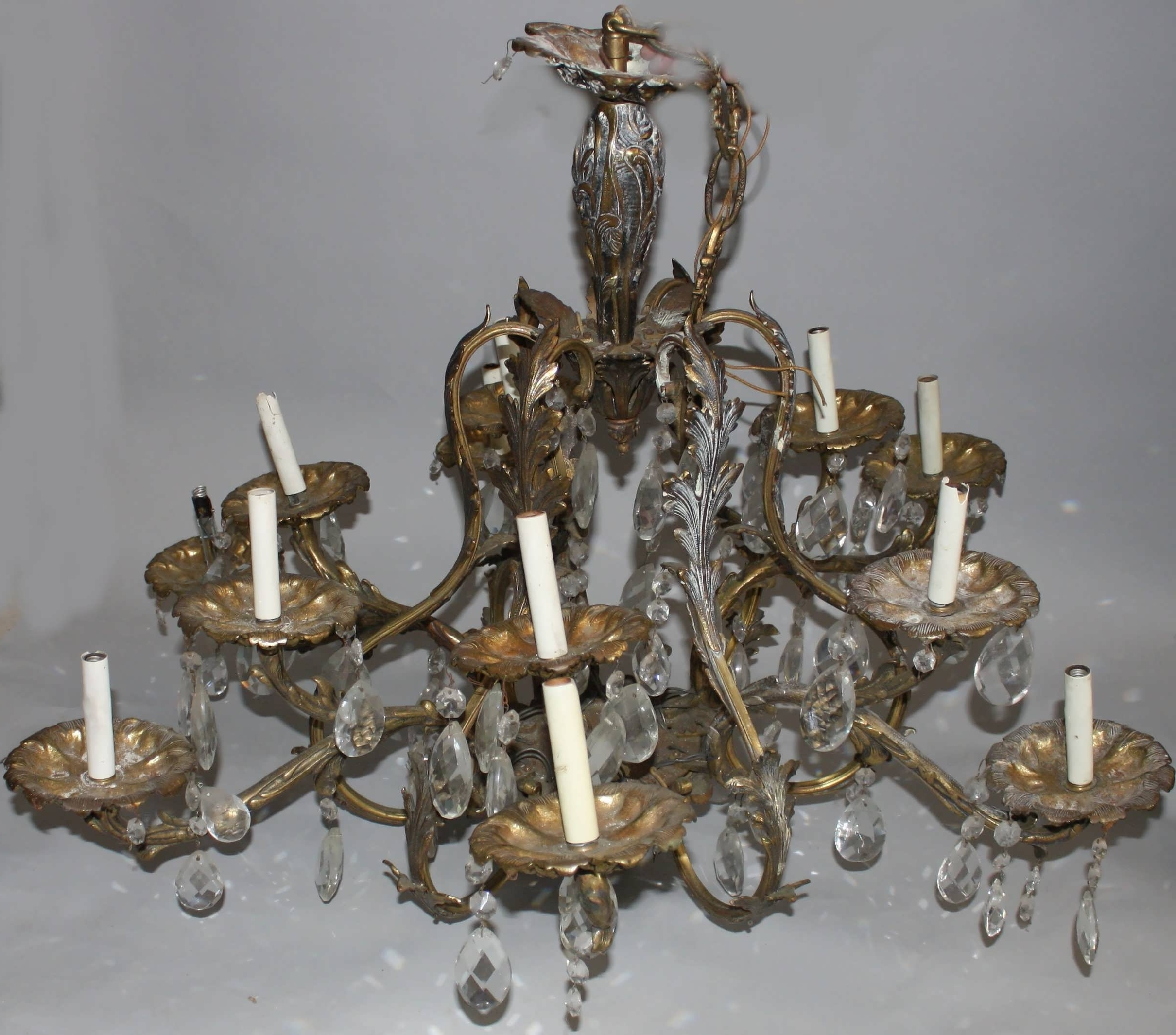Vintage Brass Chandeliers Inside Latest Chandeliers Design : Fabulous Vintage Brass Chandelier Plug In (Gallery 6 of 20)