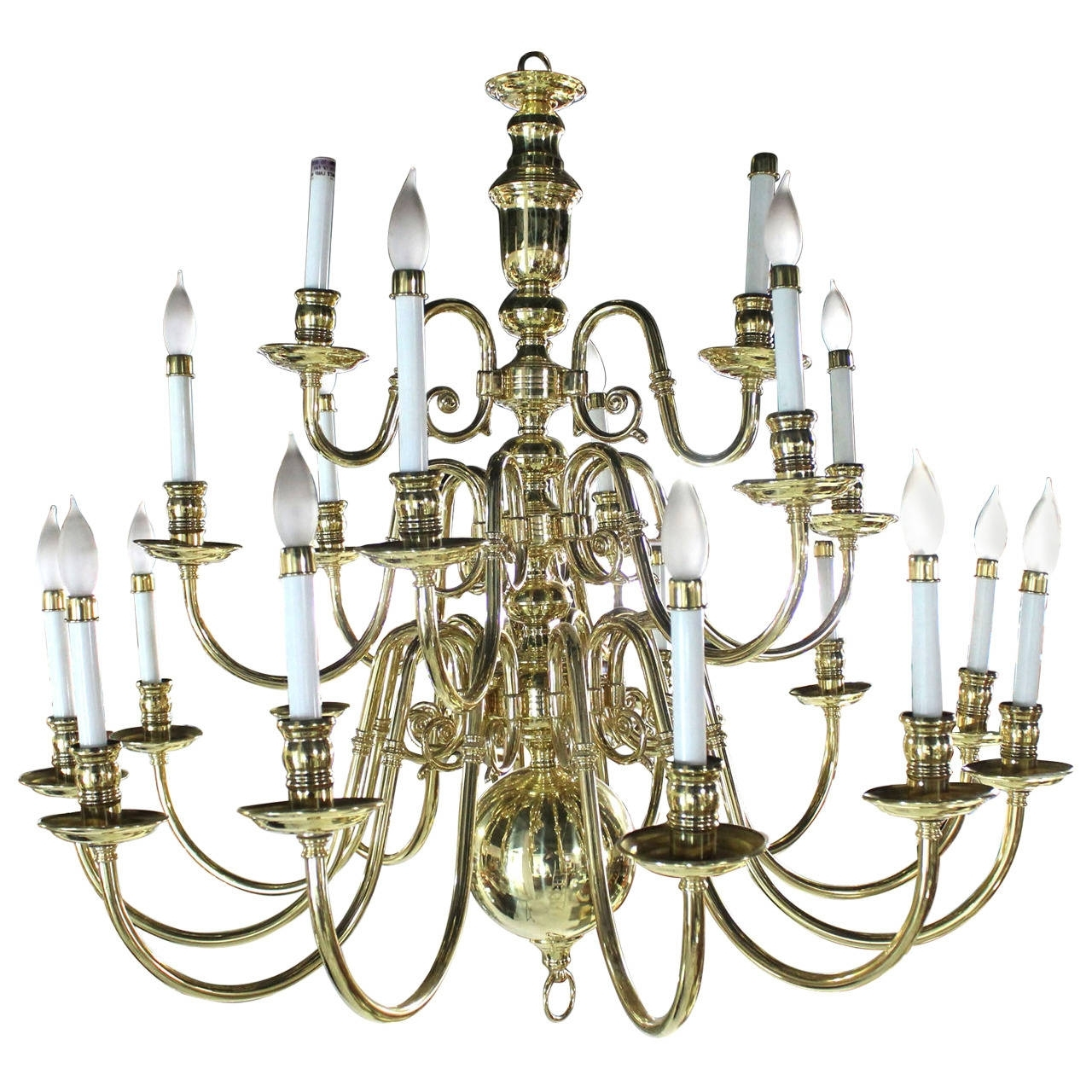 Vintage Brass Chandeliers With Most Up To Date Large Vintage Brass Candelabra Chandelier For Sale At 1Stdibs (View 20 of 20)