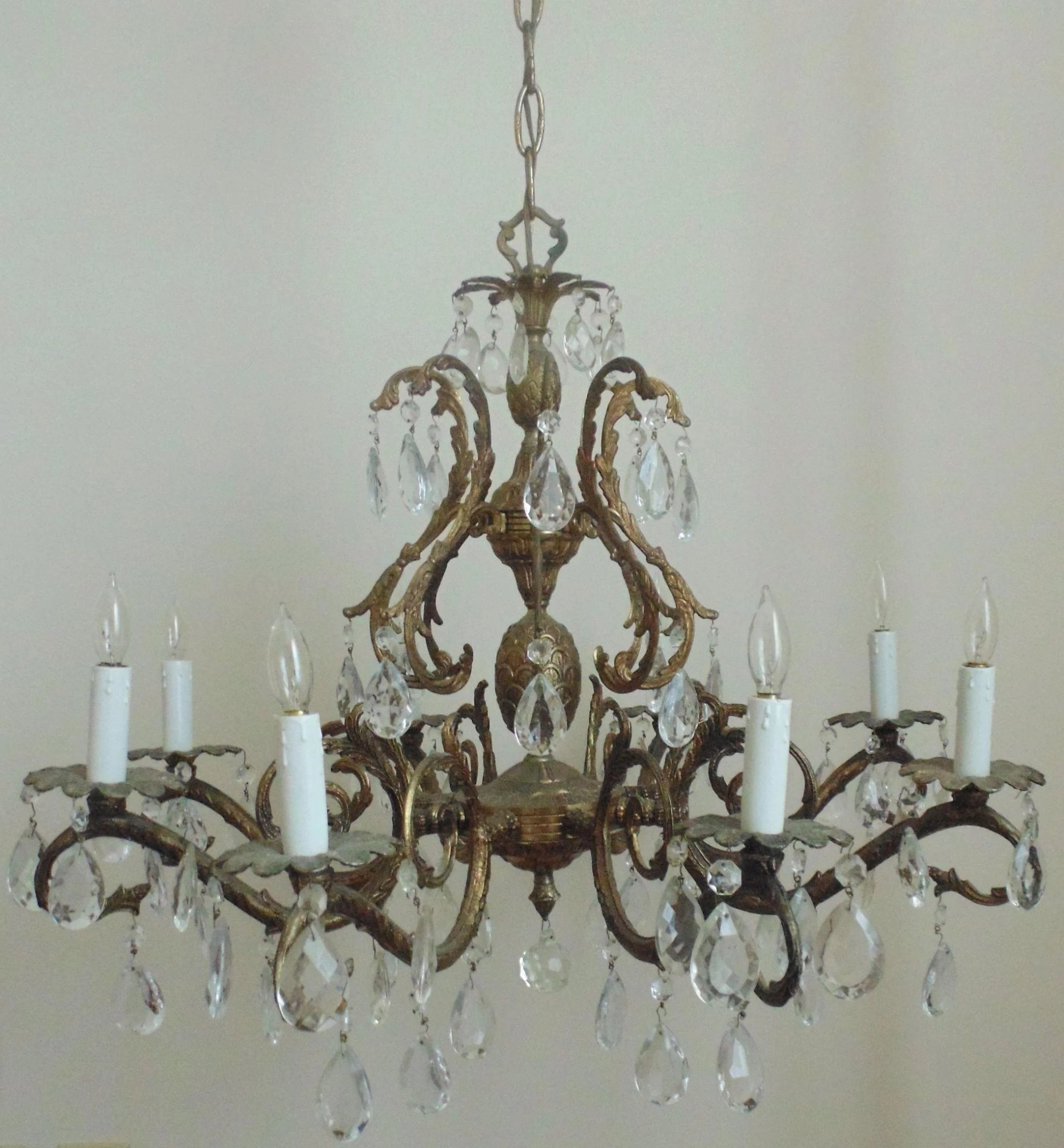 Vintage Chandelier With Regard To Best And Newest Lighting: Vintage Chandelier Bronze Finish Pineapple Birdcage Bird (Gallery 7 of 20)