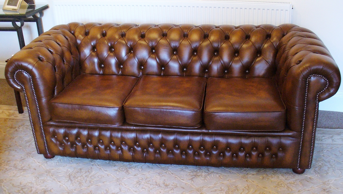 Vintage Chesterfield Sofas In Current Antique Tan Chesterfield Sofa (View 8 of 20)