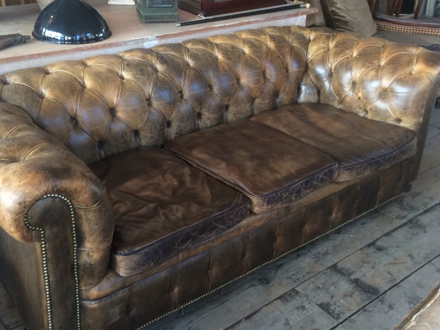 Vintage Chesterfield Sofas In Most Current Vintage Chesterfield Sofa In Furniture (View 7 of 20)
