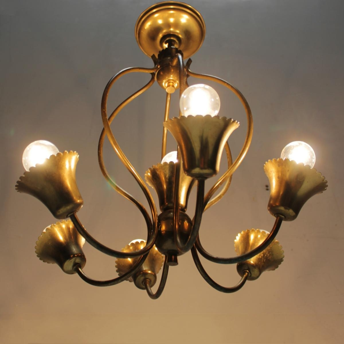Vintage Italian Chandelier For Sale At Pamono Intended For Most Up To Date Vintage Italian Chandeliers (View 14 of 20)