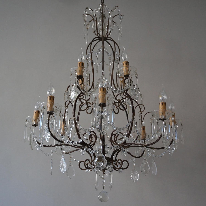 Vintage Italian Chandelier Inside Famous Magnificent Vintage 1930's Italian Chandelier In Lighting (View 11 of 20)