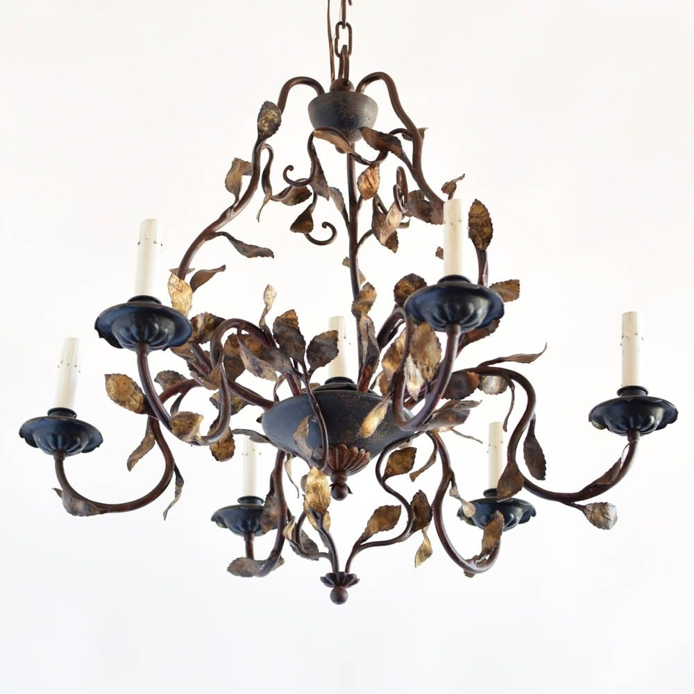 Vintage Italian Chandelier Inside Widely Used Italian Chandelier With Leaves – The Big Chandelier (Gallery 3 of 20)