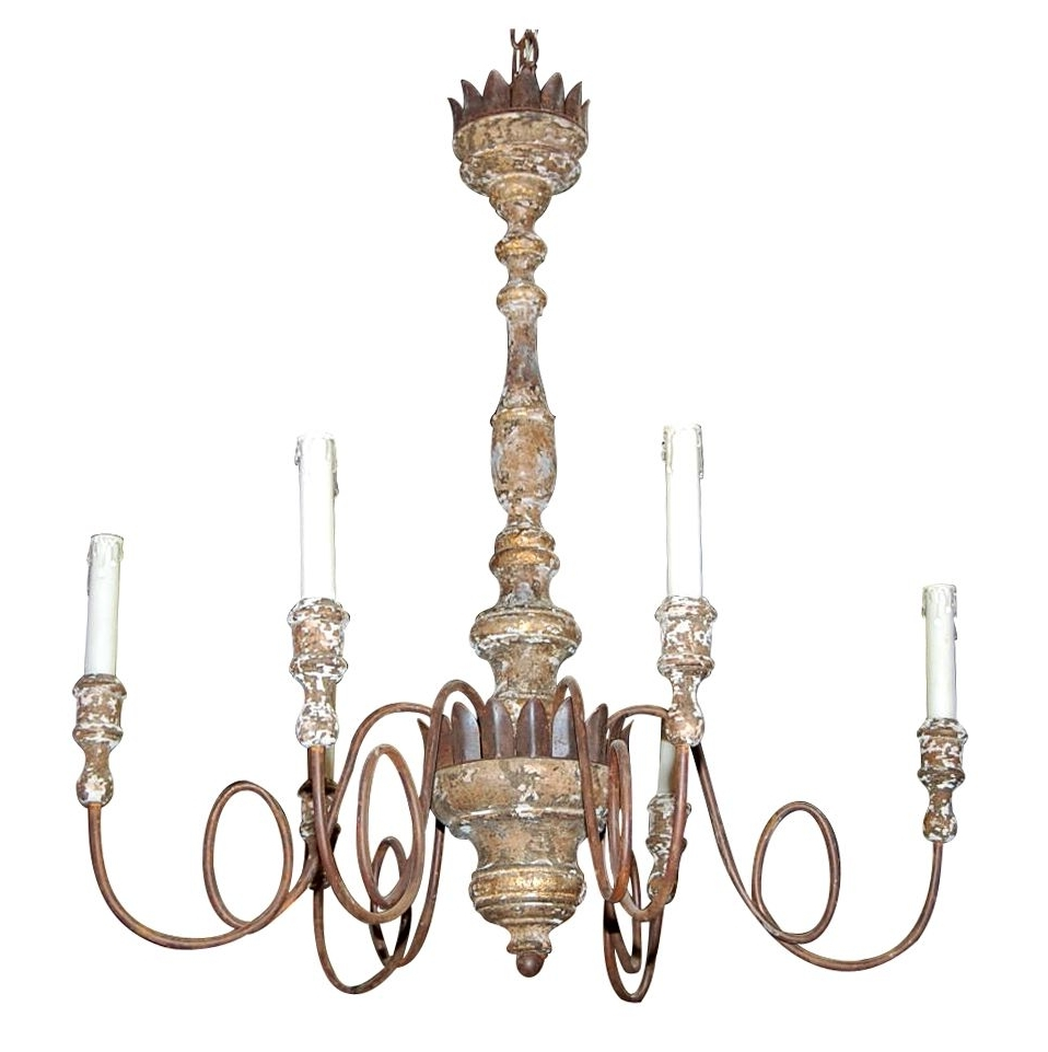 Vintage Italian Chandelier With 2018 Decorating Ideas: Astounding Picture Of Vintage White Iron Metal (View 15 of 20)