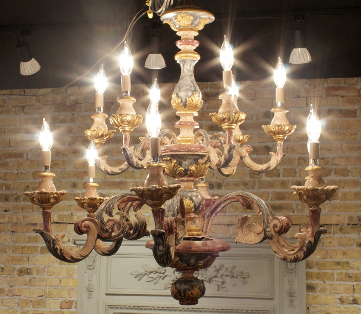 Vintage Italian Chandelier Within Most Up To Date Lighting: Wood Italian Chandelier. Chandelier. Wood. Italian. (Gallery 13 of 20)