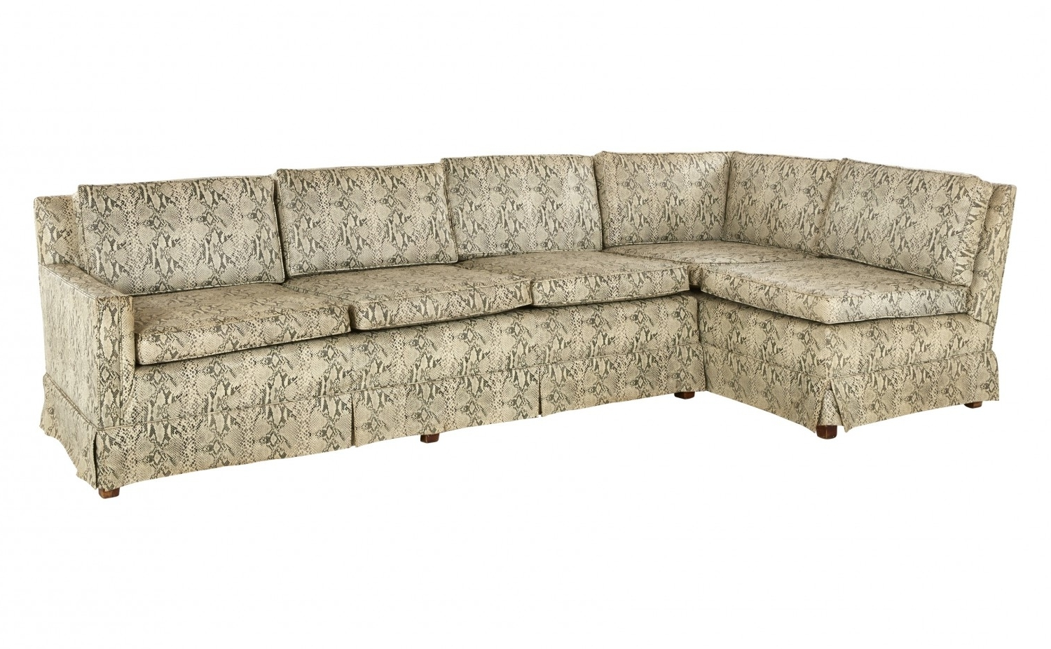 Vintage Sectional Sofas In Preferred Vintage Snakeskin Sectional Sofa (View 10 of 20)
