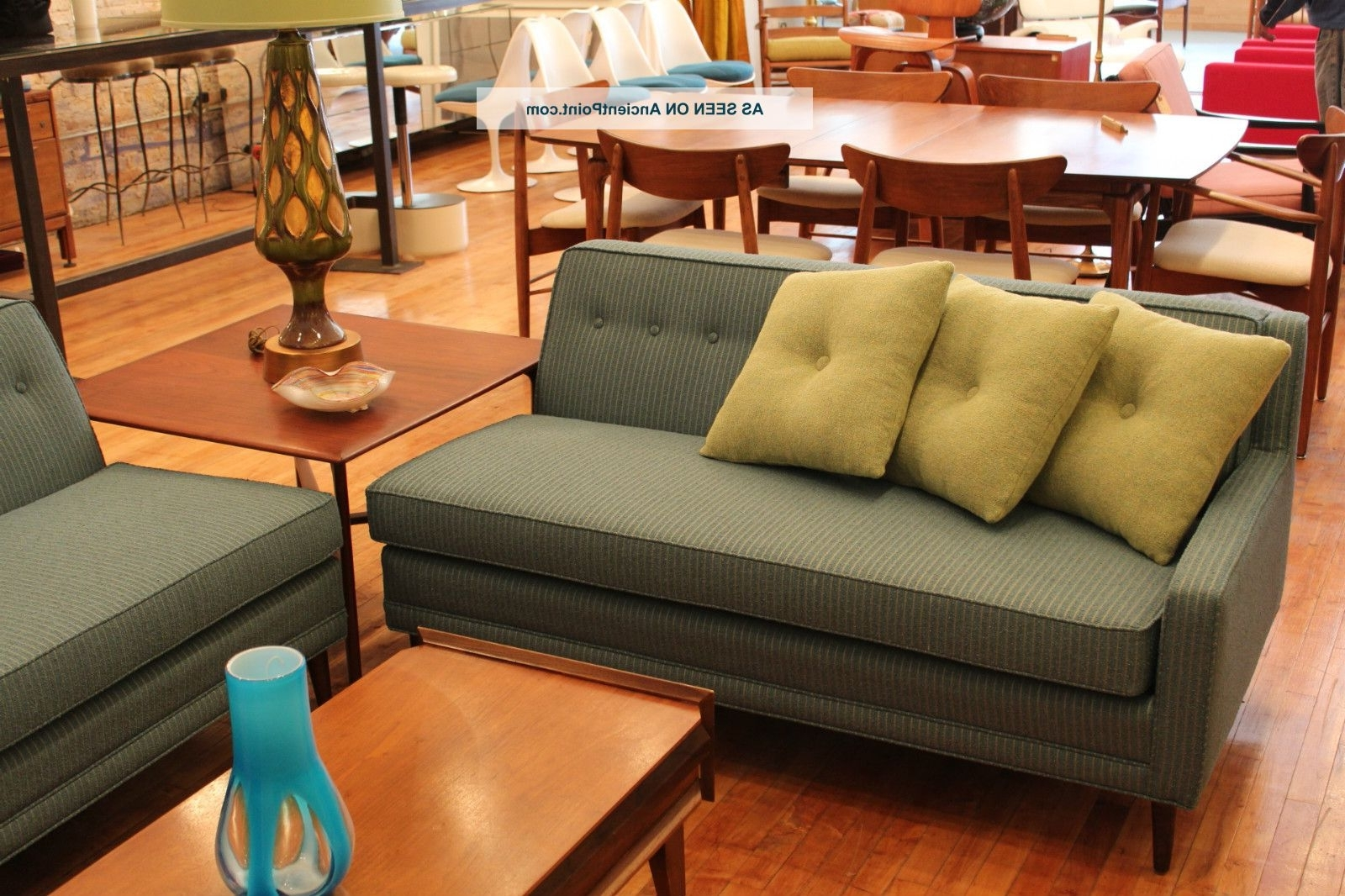 Vintage Sectional Sofas In Trendy Vintage Pin – Striped Mid Century Mod Sectional Sofa Milo Baughman (View 16 of 20)