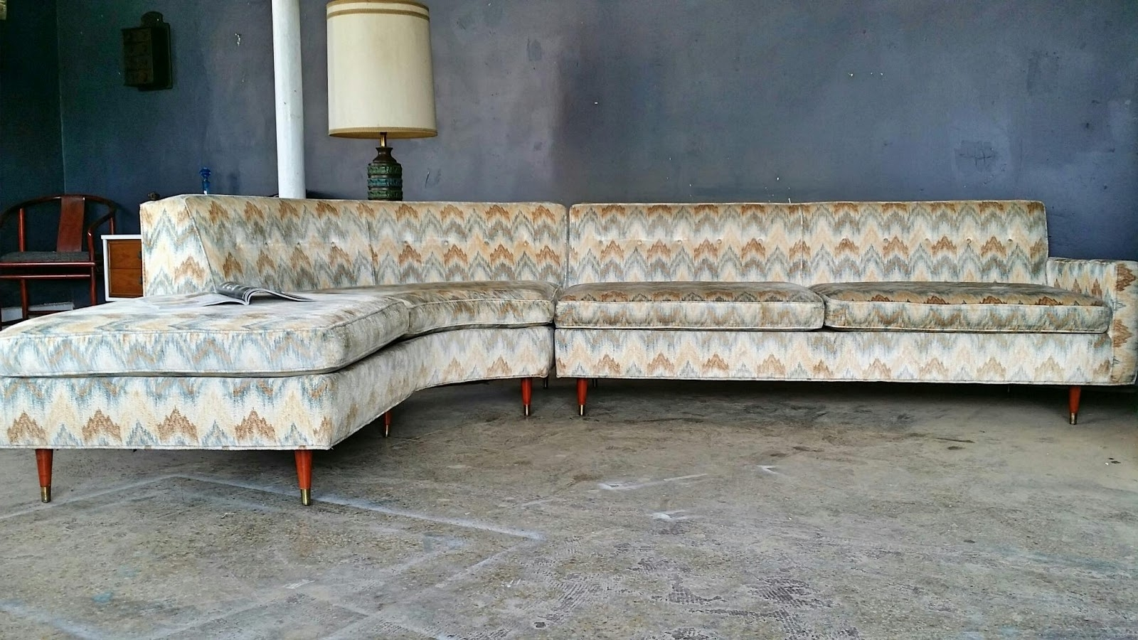 Vintage Sectional Sofas Inside Recent Vintage Ground: Mid Century Sectional Sofa (View 4 of 20)