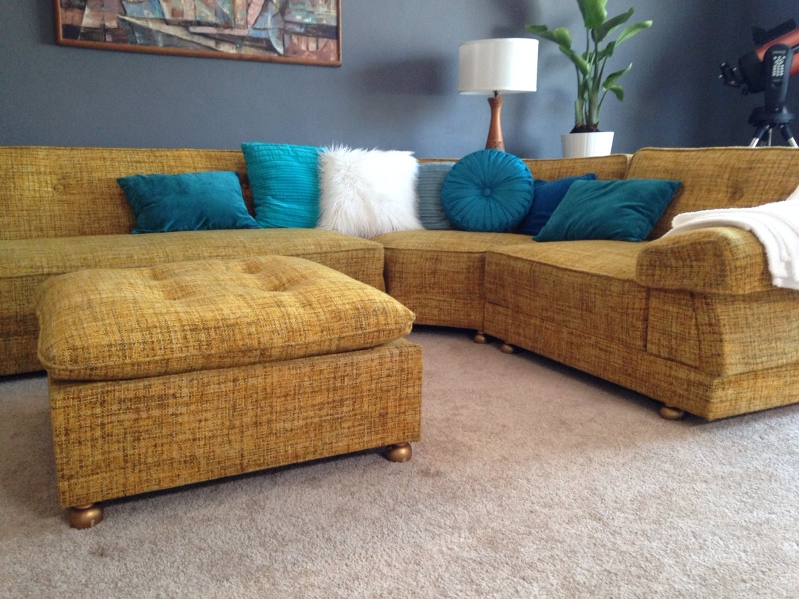Vintage Sectional Sofas With Most Recently Released Mid Century Sectional Sofa For Sale – Cleanupflorida (View 18 of 20)