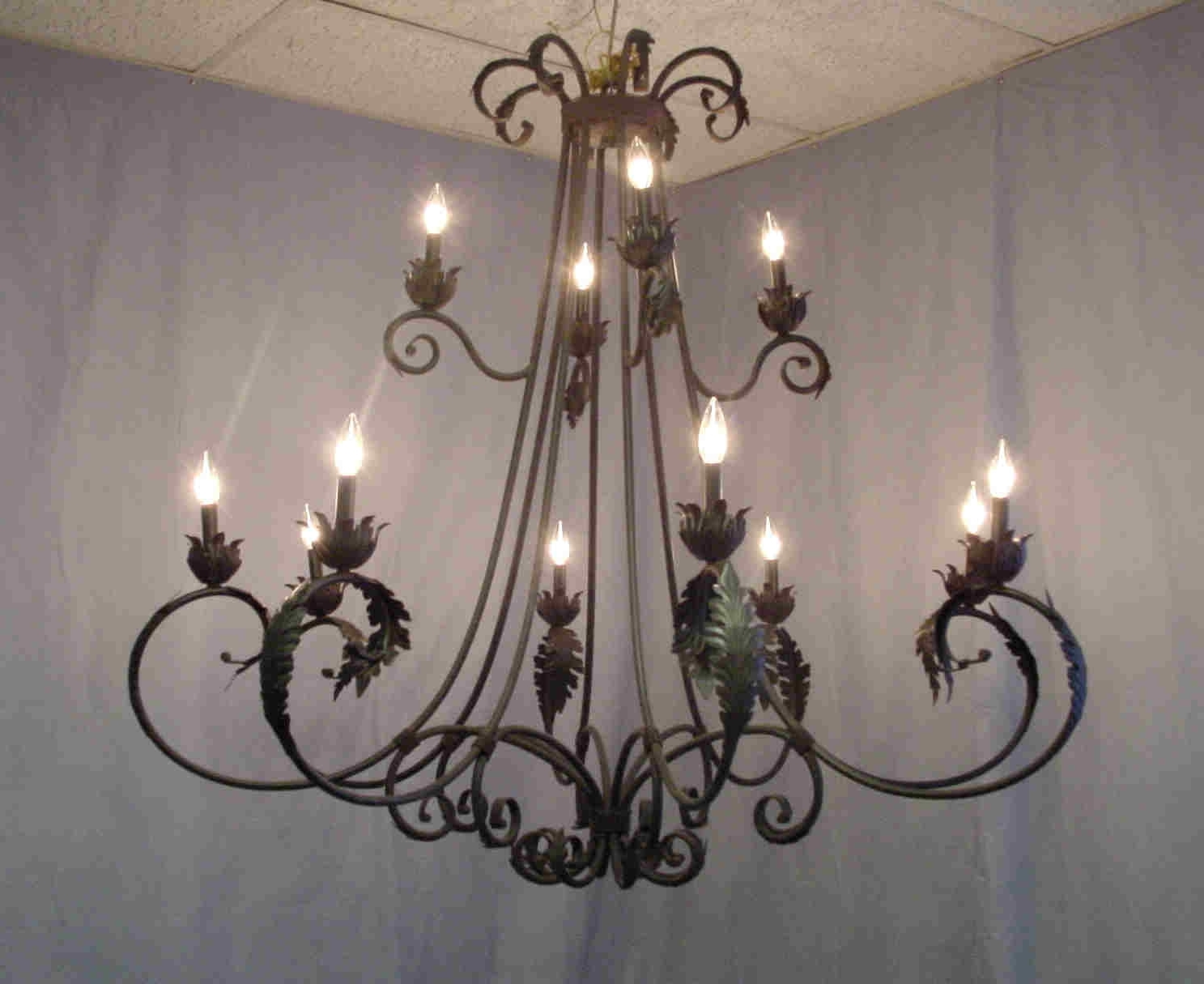 Vintage Wrought Iron Chandelier Intended For Well Liked Rustic Iron Chandelier Design Ideas — Fabrizio Design : Ideas For (View 13 of 20)