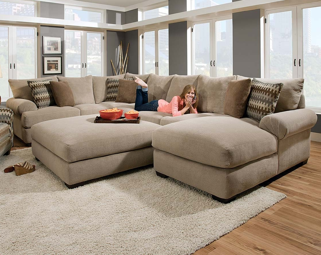 Virginia Beach Sectional Sofas Intended For Popular Tan Couch Set With Ottoman (View 19 of 20)