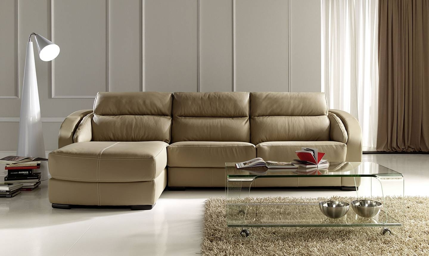Virginia Beach Sectional Sofas Within Best And Newest Modern Style Apartment Size Leather Sectional Sofa And Exquisite (View 20 of 20)