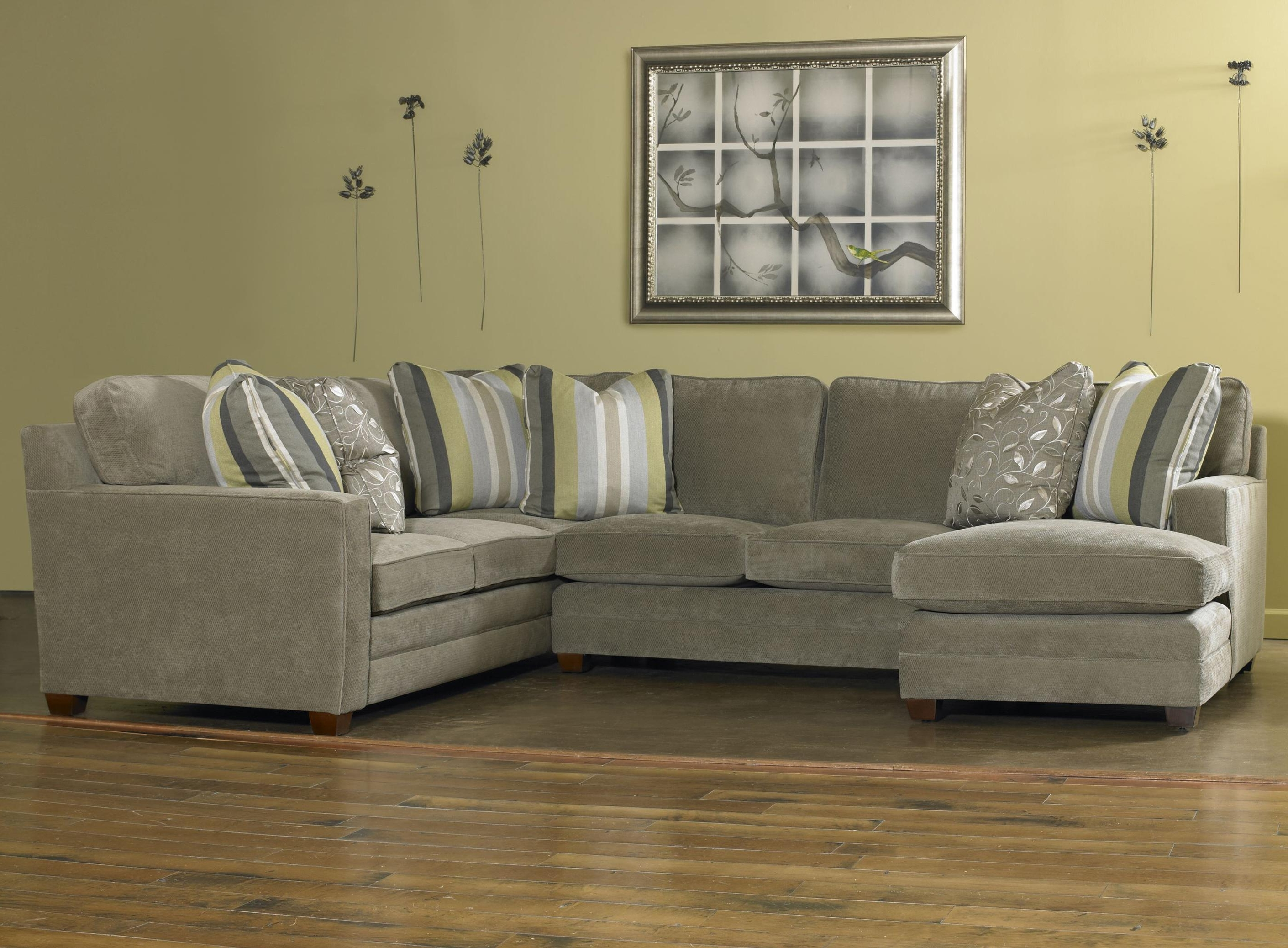 Visalia Ca Sectional Sofas Within Most Current Sam Moore Ricky Contemporary Three Piece Sectional Sofa W/ Laf (View 3 of 20)