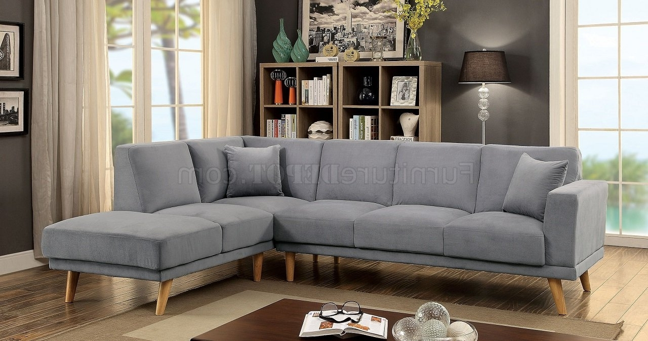 Vt Sectional Sofas For Most Recent Hagen Sectional Sofa Cm6799Gy In Gray Flannelette Fabric (View 17 of 21)