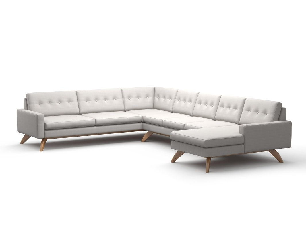 Vt Sectional Sofas With Most Recent Truemodern Luna Sectional Sofa With Chaise & Reviews (View 19 of 21)