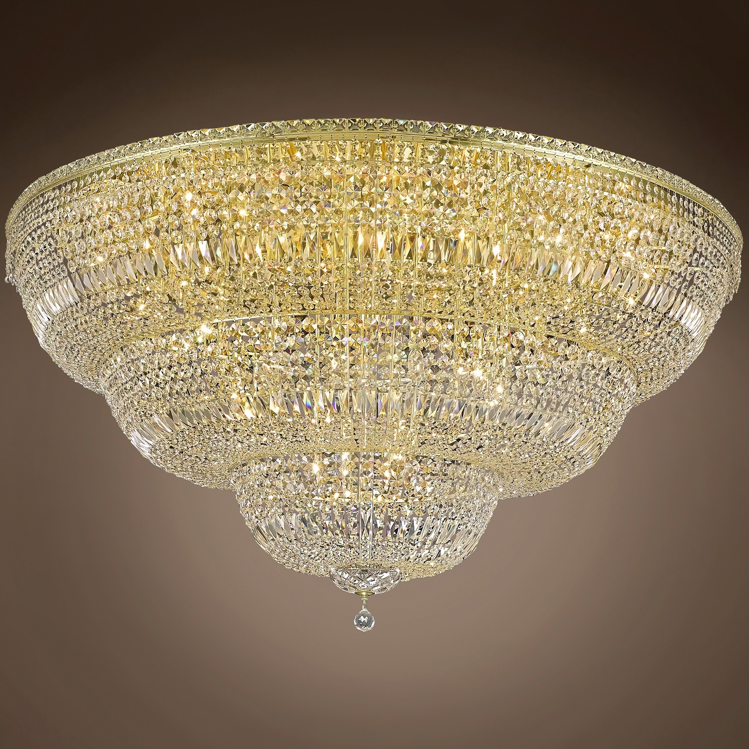 """Wall Mount Crystal Chandeliers For Preferred Joshua Marshal 701266 Invisible Design 48 Light 60"""" Flush Mount From (View 11 of 20)"""