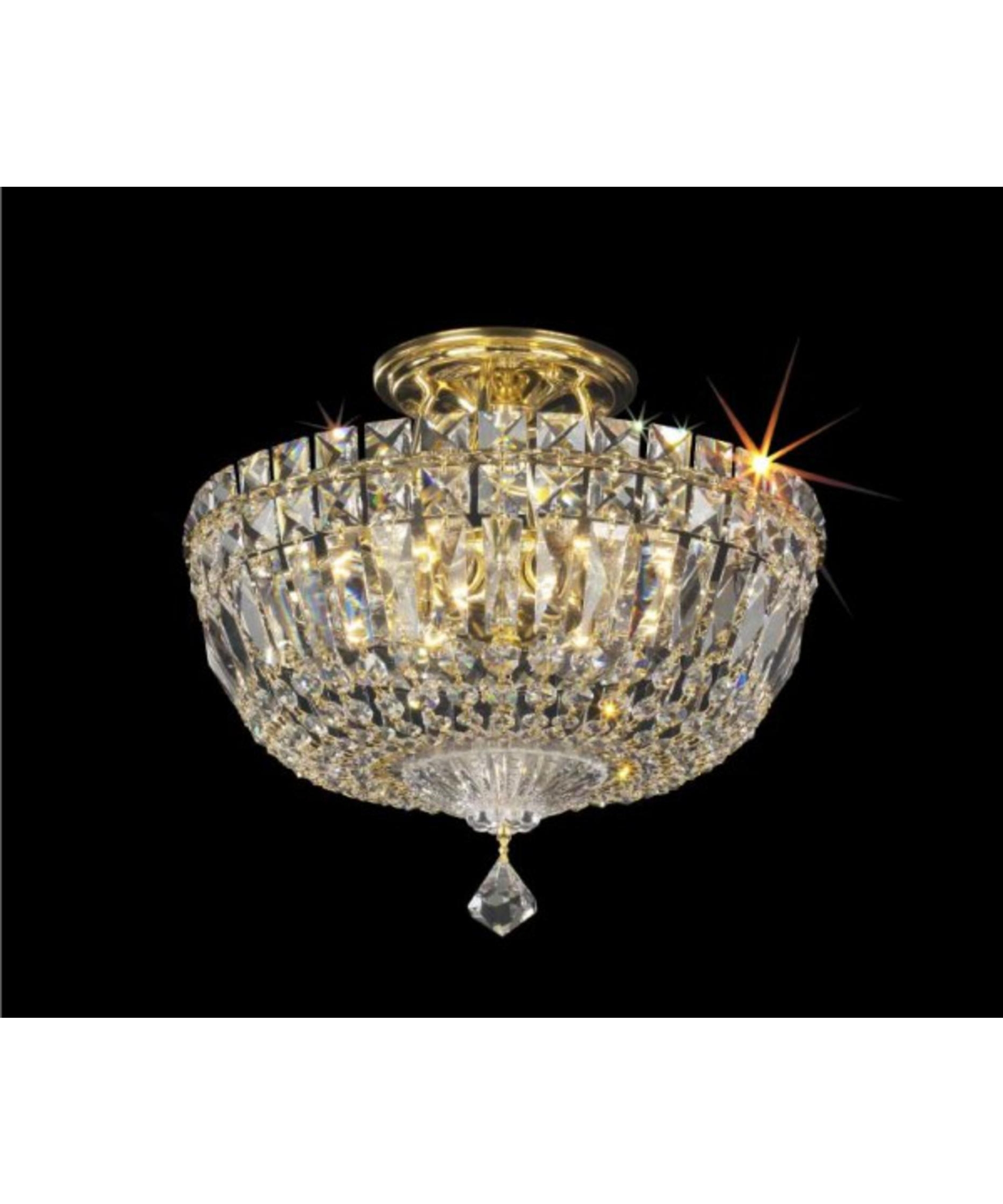 Wall Mount Crystal Chandeliers With Newest Light : Lovely Crystal Semi Flush Mount Lighting In Chandelier Of (View 4 of 20)