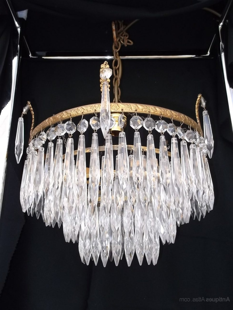 Waterfall Chandeliers With Regard To Well Known Chandeliers Design : Awesome Antique Crystal Chandelier Chandeliers (View 12 of 20)