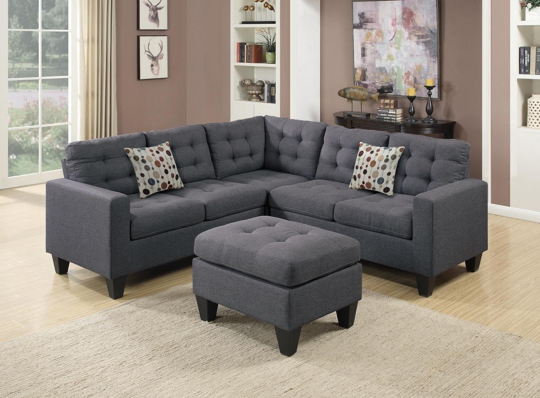 Wayfair Sectional Sofas Regarding Latest Wayfair, Ifin1022, Amazon, Poundex, F6935, Grey, Sectional, Sofa (View 12 of 20)
