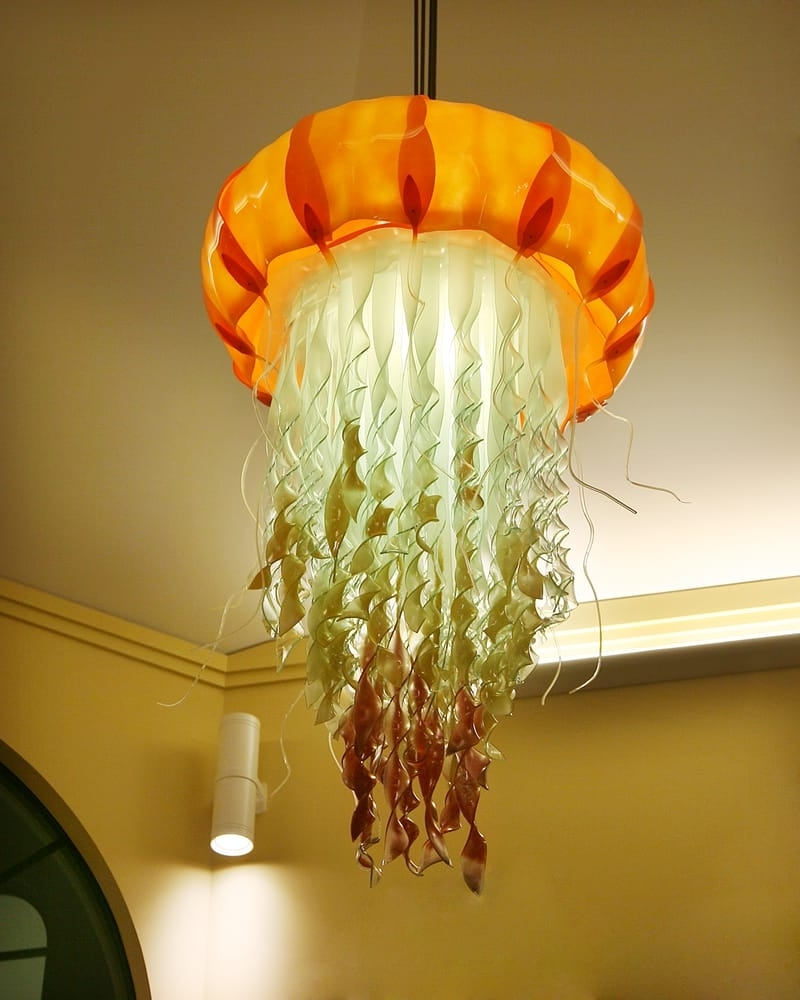 Weird Chandeliers In Famous The Bars Jellyfish Chandelier Icon Was Designed And Handmade (View 15 of 20)