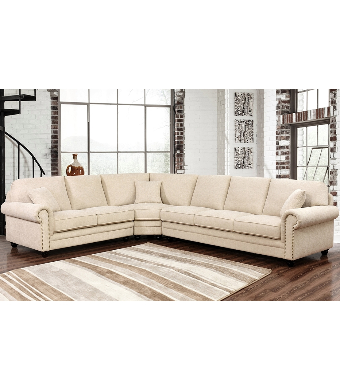 Well Known Abbyson Sectional Sofas In Sectionals : Deana Fabric Sectional (View 18 of 20)