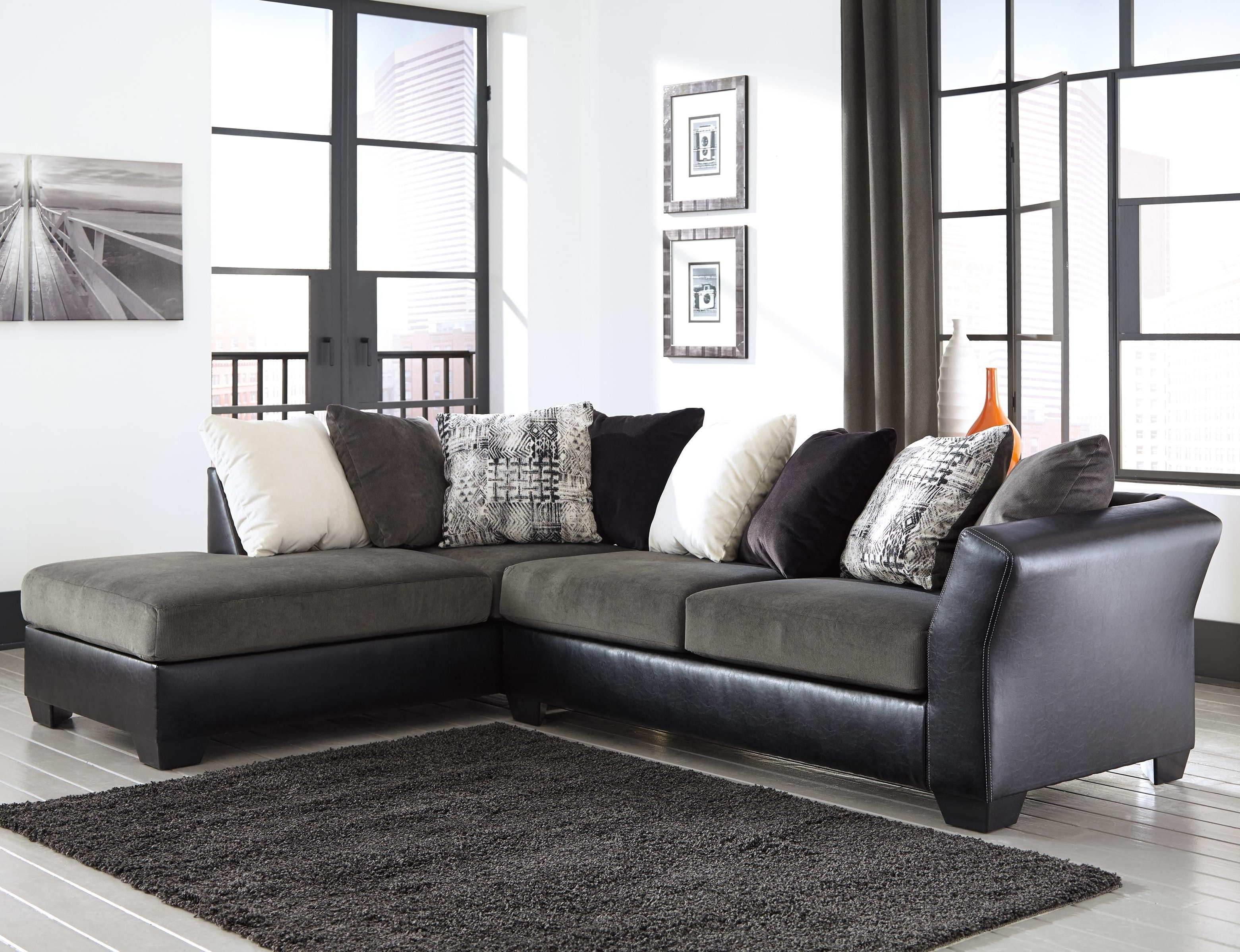 Well Known Armant 2 Piece Sectional With Right Chaisesignature Design In Eau Claire Wi Sectional Sofas (View 7 of 20)