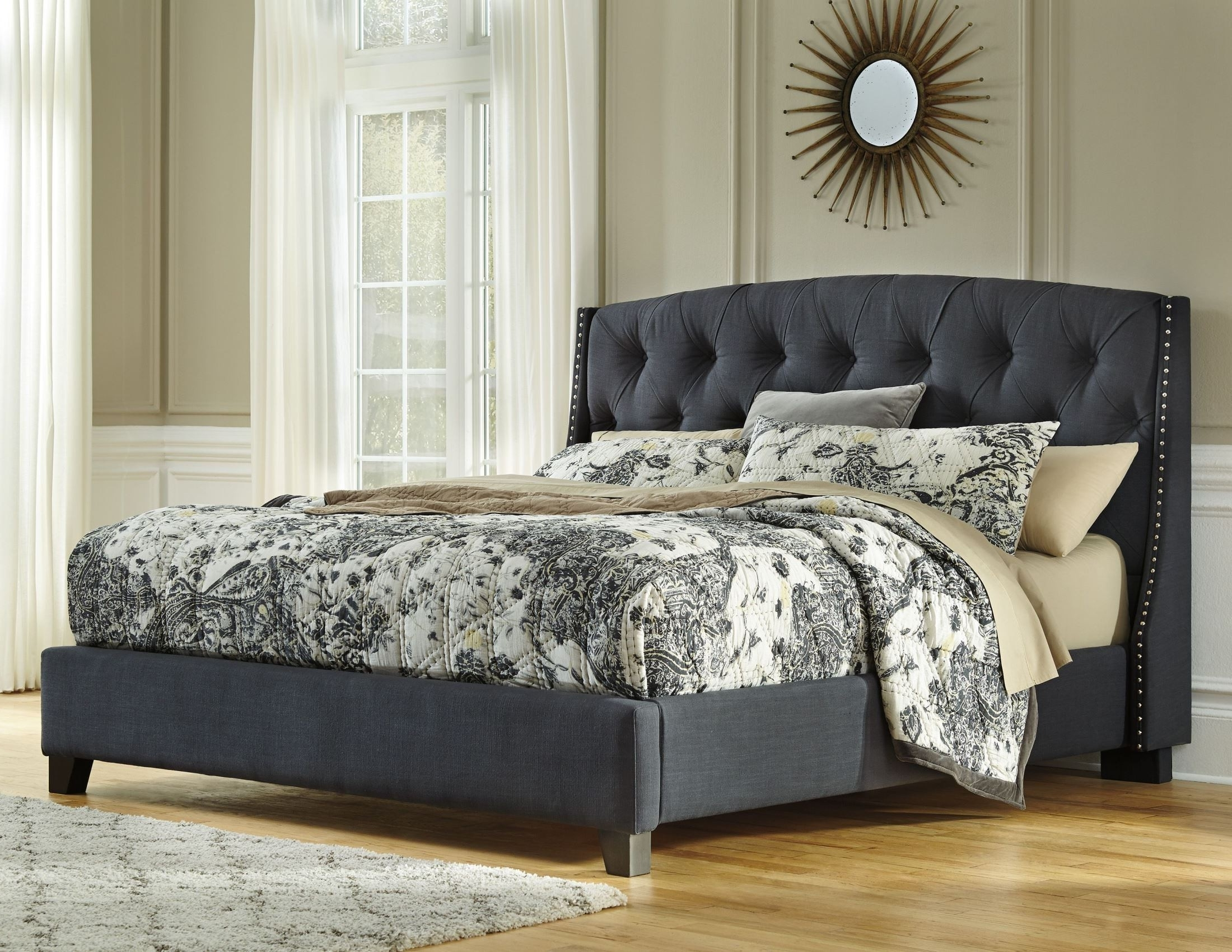Well Known Ashley Tufted Sofas With Regard To King Upholstered Platform Bed From Ashley (b600 558 556 (View 12 of 20)