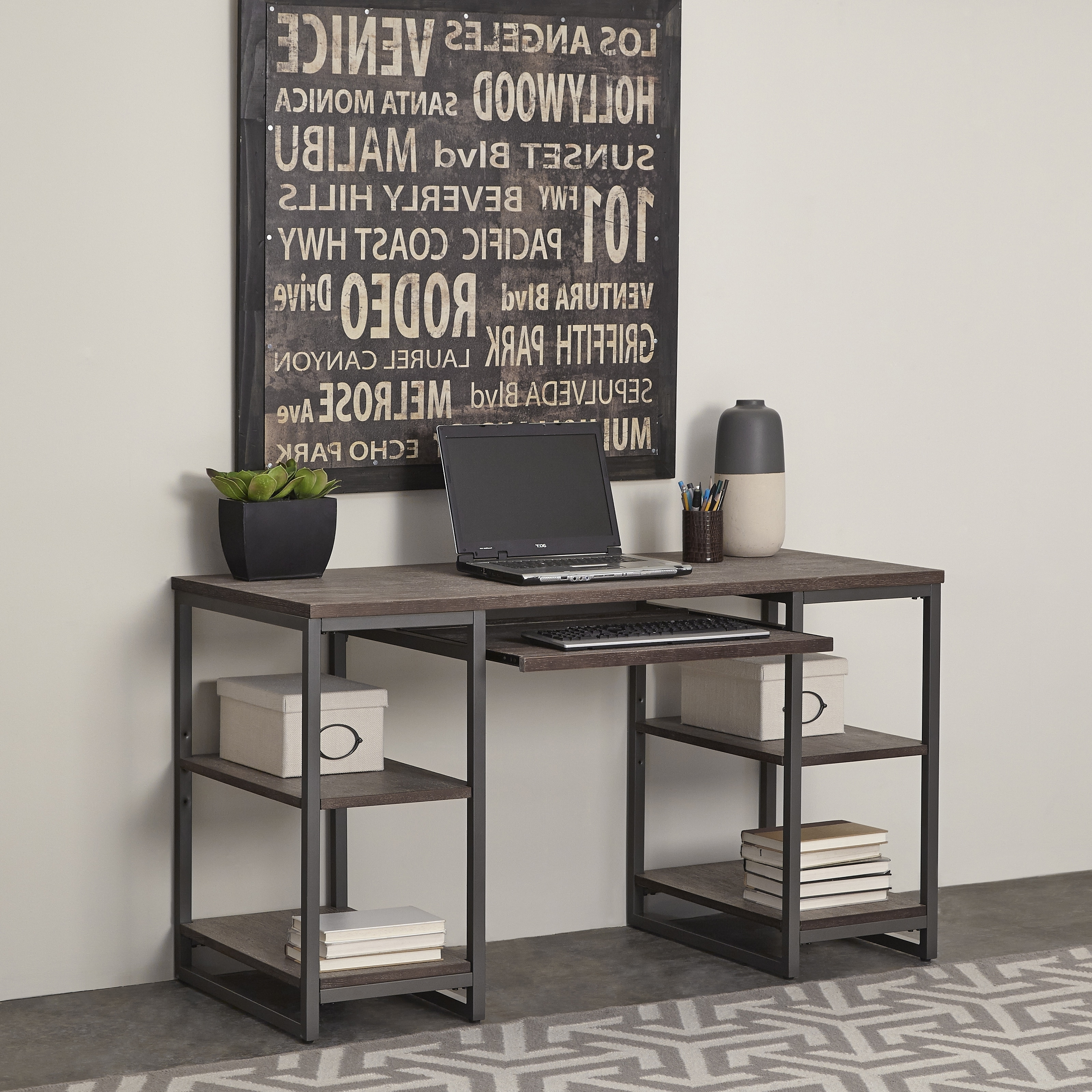 Well Known Barnside Metro Pedestal Deskhome Styles – Free Shipping Today Pertaining To Gold Coast Computer Desks (View 19 of 20)