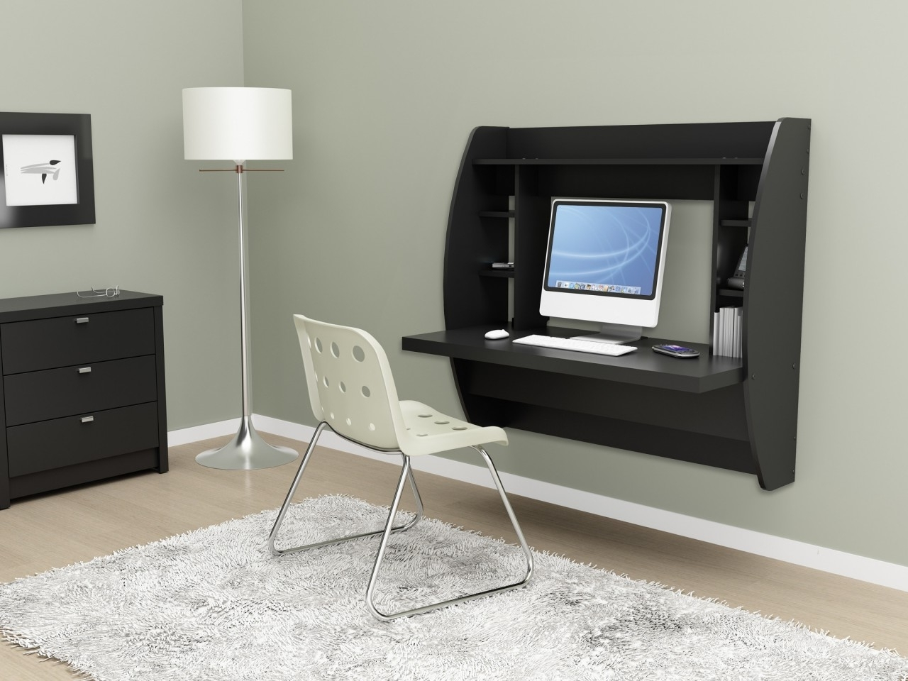 Well Known Bedroom: Compact Bedroom Computer Desks. Bed Ideas (View 3 of 20)