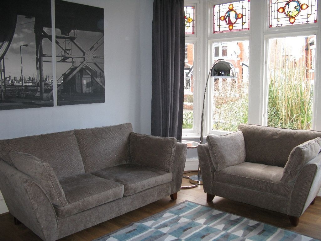 Well Known Beige/grey M&s Marks & Spencer 'barletta' 3 Seater Sofa & Snuggle In Marks And Spencer Sofas And Chairs (View 5 of 20)