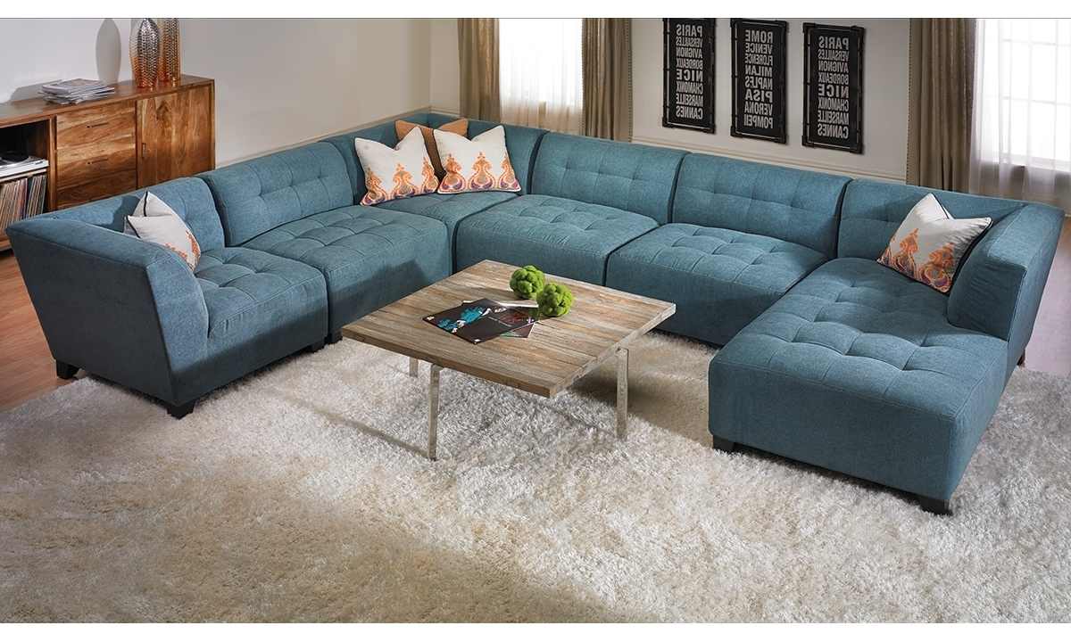 Well Known Belaire Tufted Contemporary Modular Sectional (View 20 of 20)