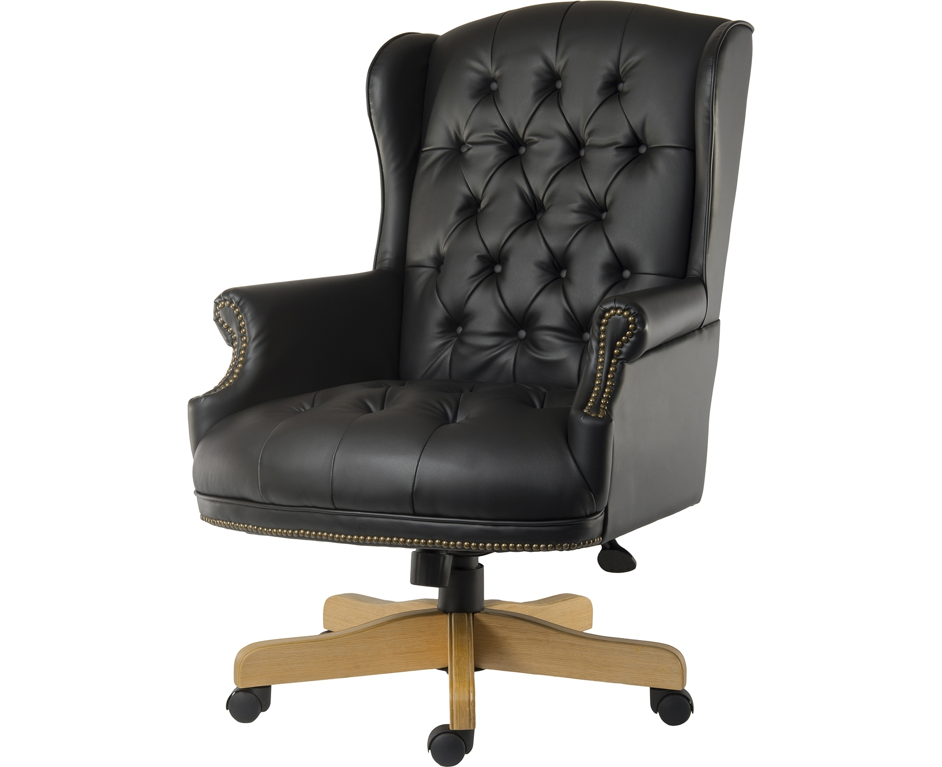 Well Known Black Leather Faced Executive Office Chairs Inside Leather Black Office Chairs & Seating Furniture & Storage – Ryman (View 19 of 20)