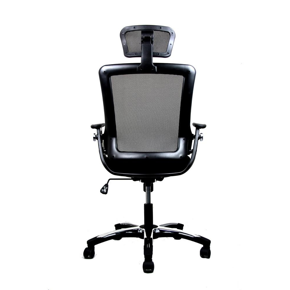 Well Known Black Modern High Back Mesh Executive Office Chair With Headrest Pertaining To Executive Office Chairs With Headrest (View 18 of 20)