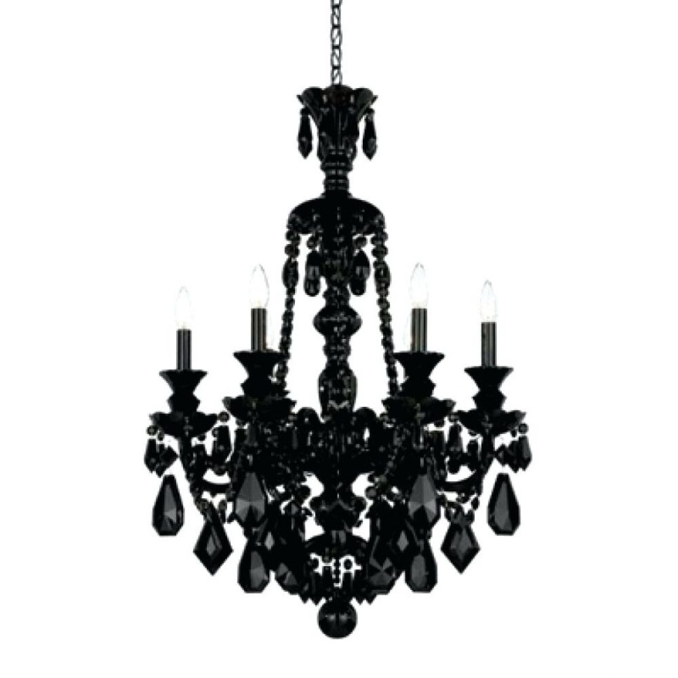 Well Known Chandeliers : Black And Crystalandelier Modern With Shades Jet With Regard To Vintage Black Chandelier (View 19 of 20)