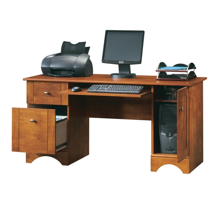 Well Known Computer Desks For Shop Sauder Country Computer Desk At Lowes (View 15 of 20)