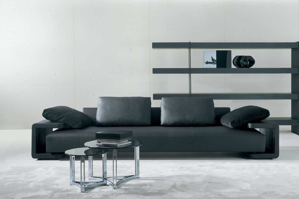 Well Known Contemporary Sofa Chairs Pertaining To Contemporary Leather Sofa Furniture — Awesome Homes : Style Of (View 20 of 20)