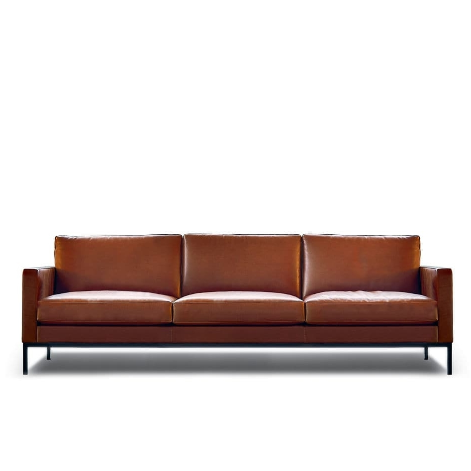 Well Known Contemporary Sofa / Fabric / Leather /florence Knoll – Relax Throughout Florence Knoll Wood Legs Sofas (View 12 of 20)